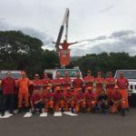 Bombeiros de Porto Alegre testam Cesta Aérea