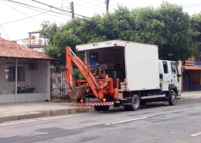 Cosanpa 4 676x483 - Cosanpa realiza reparo em rua de Belém