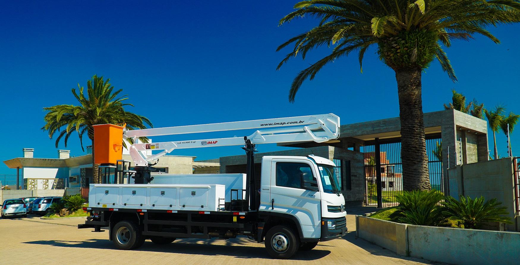 IMAP fotos em solo LA 15000 SGI 2 - Inovação no trabalho em altura: conheça a Cesta Aérea LA 15.000 SGI