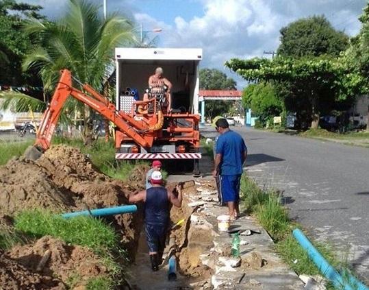 saneamento cosanpa - Retroescavadeiras para Saneamento: Manutenções em tubulações quebradas