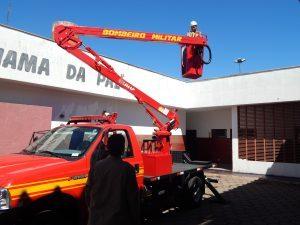 viatura bombeiros - Corpo de Bombeiros utiliza solução para trabalho em altura