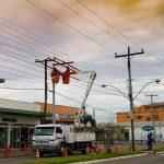 Manutenção em redes de energia com Cestas Aéreas